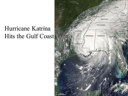 Hurricane Katrina Hits the Gulf Coast. Biggest Natural Disasters by Decade.