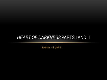 The Symbolism in Heart of Darkness by Joseph Conrad