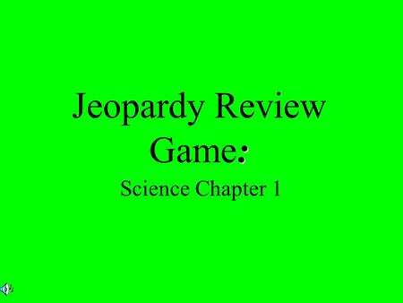 : Jeopardy Review Game: Science Chapter 1. $2 $3 $4 $5 $1 $2 $3 $4 $5$5 $1 $2 $3 $4 $5 $1 $2 $3 $4 $5 $1 $2 $3 $4 $5 $1 Cell Parts Knock Classifying Animals.