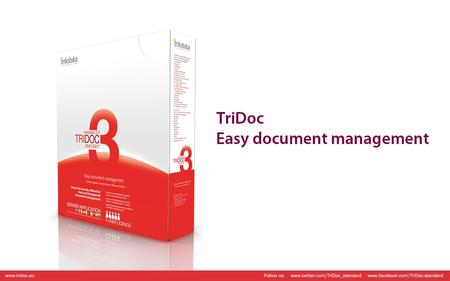 High-class document management for small and medium businesses. Let effective and easy document handling become reality at your company.