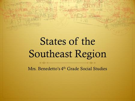 States of the Southeast Region