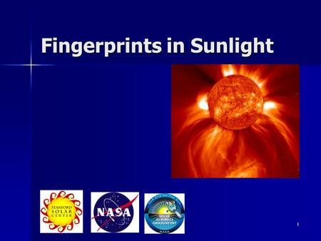1 Fingerprints in Sunlight. 2 How can we study the stars & Sun? We can't get there from here We can't get there from here Only/primary way of learning.