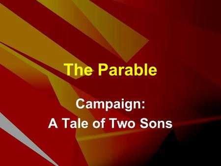 The Parable Campaign: A Tale of Two Sons. West / East Thinking Western Concept Explanation Illustration Eastern Story Explanation Concept PaulJesus.