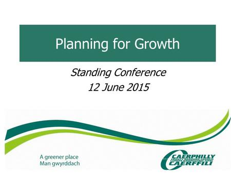 Planning for Growth Standing Conference 12 June 2015.