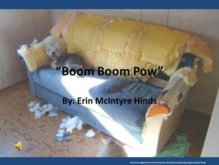 """Boom Boom Pow"" By: Erin McIntyre Hinds"
