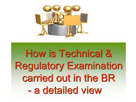 How is Technical & Regulatory Examination carried out in the BR - a detailed view.