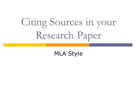 Research Paper Citing Sources