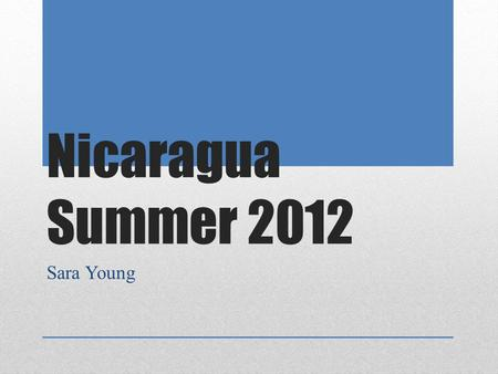 Nicaragua Summer 2012 Sara Young. Our team ready to fly out to Managua, Nicaragua.