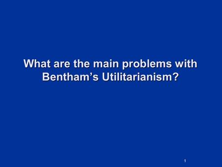 an introduction to the concept of utilitarianism theory June 2015 introduction to the task these resources and activities are designed to introduce students to the theory of utilitarianism the ethics course could be started by covering the concepts of absolutist and relative morality.