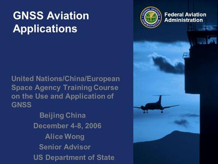 GNSS Aviation Applications