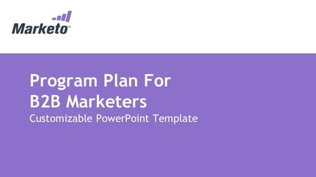 Program Plan For B2B Marketers Customizable PowerPoint Template.