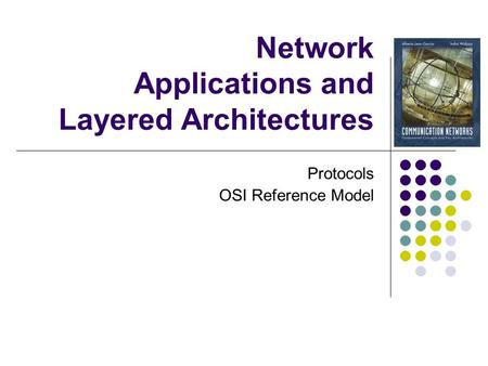 Network Applications and Layered Architectures Protocols OSI Reference Model.