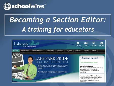 Becoming a Section Editor: A training for educators.