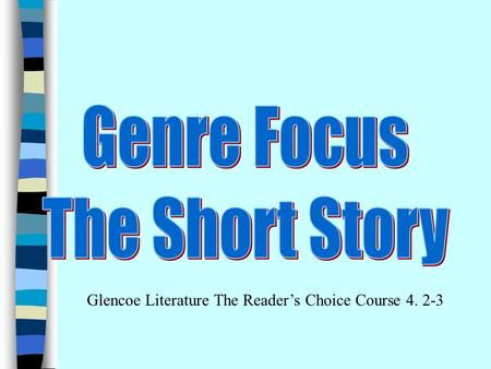 Genre Focus The Short Story