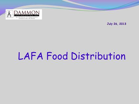 LAFA Food Distribution. Introduction: ► The problem is that the Emergency Power System will not operate automatically. ► The existing Emergency Power.