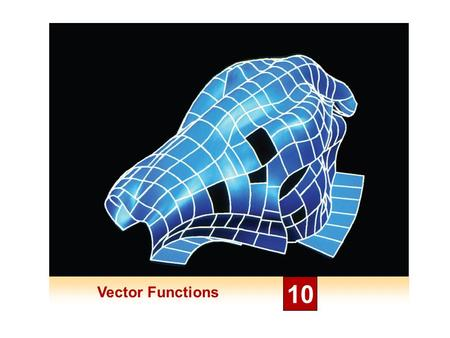Vector Functions 10. Derivatives and Integrals of Vector Functions 10.2.