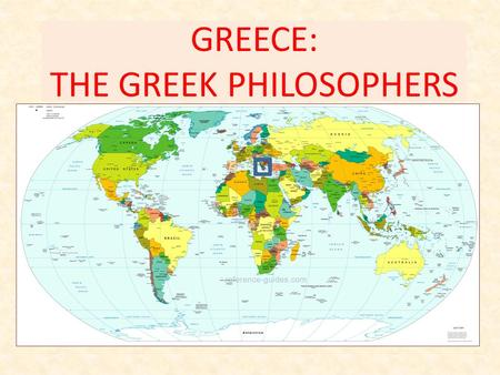 GREECE: THE GREEK PHILOSOPHERS. Many Greek Gods Architecture: The Parthenon.