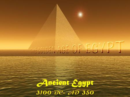 Ancient Egypt. Geography of the Nile River Valley.