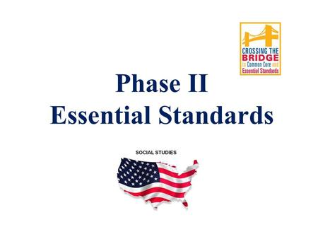 Phase II Essential Standards. Phase I Phase II Lesson Plan Template.