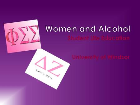  If two students, one female and one male, drink the same amount of liquor, the result is often quite different  Alcohol affects women differently than.