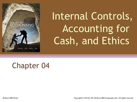 Chapter 4: Internal Controls, Accounting for Cash, and Ethics