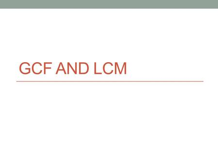how to find gcf of two numbers