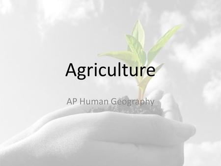 Agriculture AP Human Geography. Essential Questions What are the origins of agriculture? How do MDC's and LDC's differ in terms of agriculture? What are.
