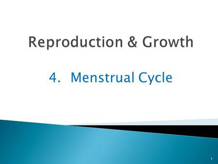 4.Menstrual Cycle 1. The menstrual cycle is a monthly cycle of changes in the female reproductive system 2 It is the way the uterus changes before and.