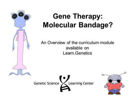 Gene Therapy: Molecular Bandage? An Overview of the curriculum module available on Learn.Genetics.