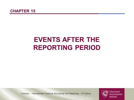 EVENTS AFTER THE REPORTING PERIOD