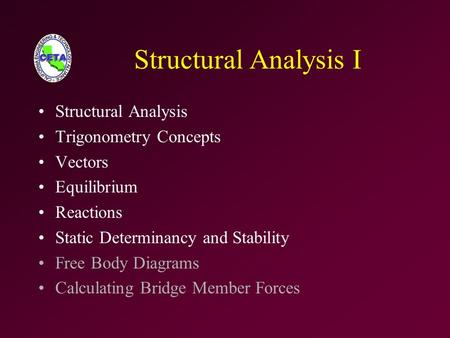 Structural Analysis I Structural Analysis Trigonometry Concepts