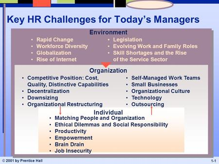 Central Challenges Faced by the Human Resource Department in Any Organization