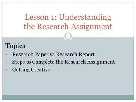 Creative research paper topics