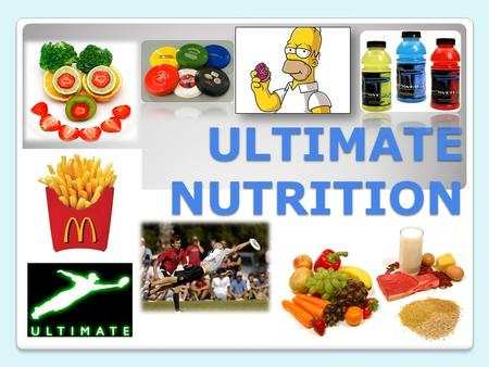 ULTIMATE NUTRITION. MY EXPECTATIONS MY EXPECTATIONS When I am talking you are not. If I give you an instruction I expect you to follow it the first time.