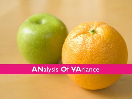 ANalysis Of VAriance. ANOVA Tests of differences reflect differences in central tendency of variables between groups and measures. Correlation and regression.