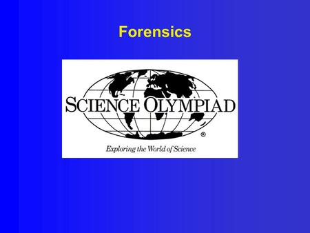 Forensics. Forensics and Safety Safety! Safety! Safety! Safety! Safety! Bring and wear lab coat/apron that cover the knees, OSHA approved indirectly vented.