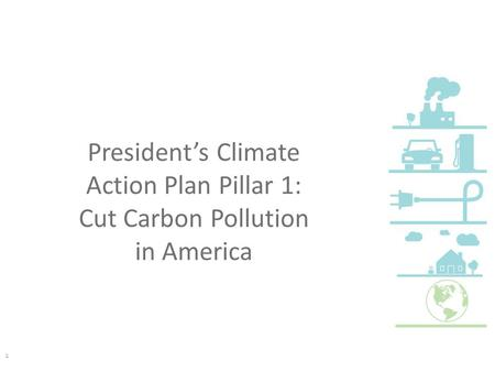President's Climate Action Plan Pillar 1: Cut Carbon Pollution in America 1.