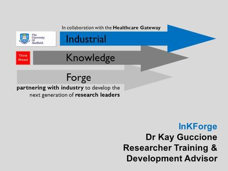 InKForge Dr Kay Guccione Researcher Training & Development Advisor.