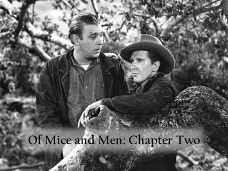 Of Mice and Men: Chapter Two Put the Following Events in Order The boss arrives in the bunkhouse. Excited by Slim and Carlson's conversation, Lennie.