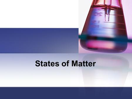 States of Matter. Let's review matter… Matter is anything that takes up space & has mass. It occurs in three states: Solid Liquid Gas.