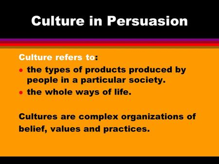 a description of the concept of persuasion and the two basic routes to persuasion Abstract ours is an age of consumerism, and the study of persuasion is a central topic of consumer research over time our knowledge of most persuasive topics has grown, but on a few topics knowledge has been lost.