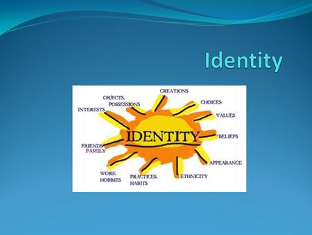 What is Identity? Distinctive characteristics belonging to any one person, or shared by all members of a particular society It is what makes us who we.