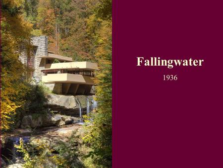 Fallingwater is a house by frank lloyd wright that is - Maison sur la cascade ...