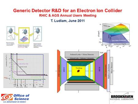 Generic Detector R&D for an Electron Ion Collider RHIC & AGS Annual Users Meeting T. Ludlam, June 2011.