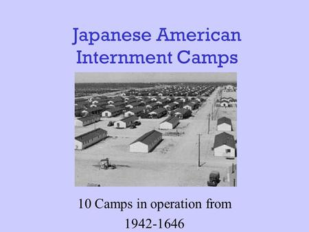 japanese internment thesis Steve anderson history 389 - fall 2007 approaches to history research paper outline the japanese internment thesis: the internment of japanese americans during world.