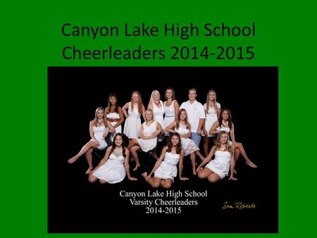 Canyon Lake High School Cheerleaders