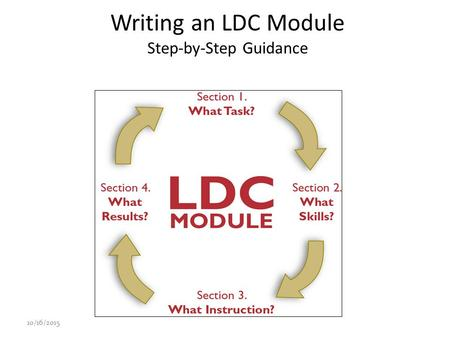 Writing an LDC Module Step-by-Step Guidance 10/16/20151.