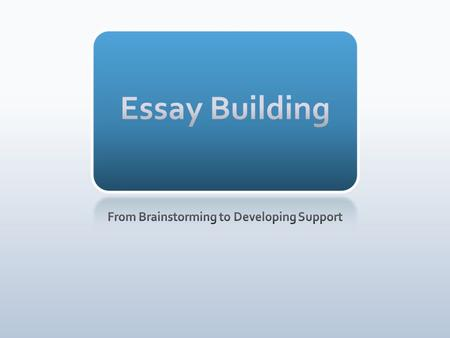 essay builder Persuasive essay builder us-based service has hired native writers with graduate degrees, capable of completing all types of papers on any academic level.