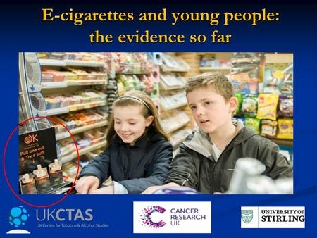 E-cigarettes and young people: the evidence so far.