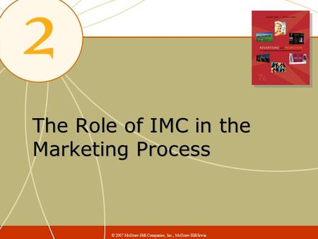 The Role of IMC in the Marketing Process © 2007 McGraw-Hill Companies, Inc., McGraw-Hill/Irwin.